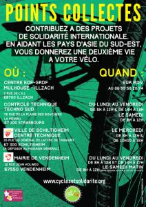 Cycles et Solidarité, collecte de vélos 2017