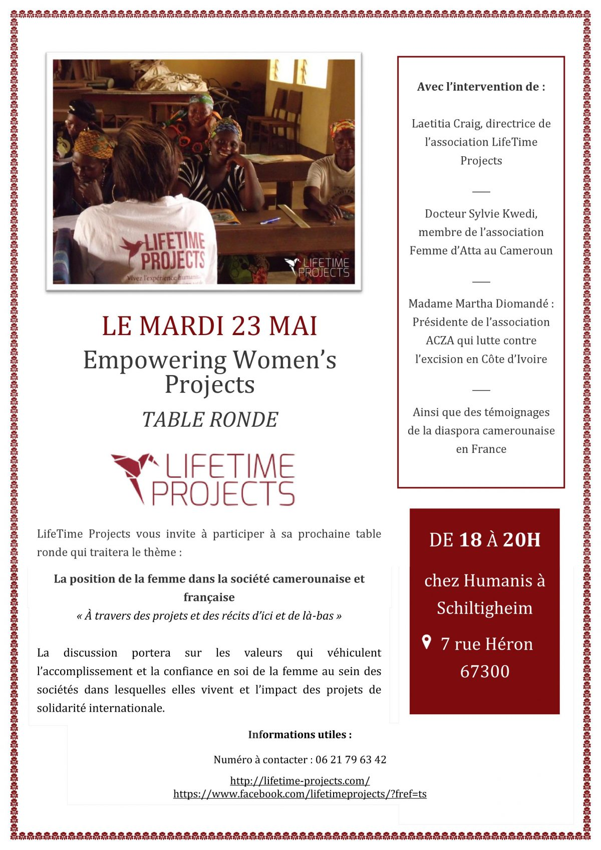 Empowering Women's Projects Table Ronde chez Humanis, Collectif d'Associations de Solidarité Internationale à Schiltigheim