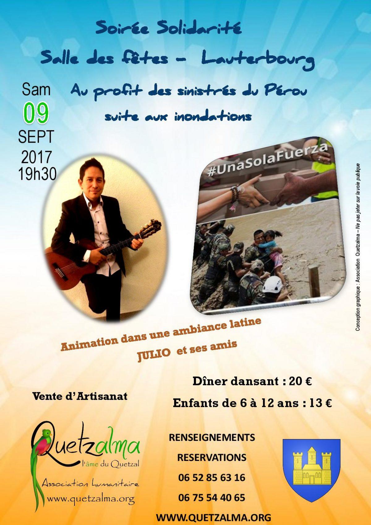Soirée solidarité Salle des fêtes - Lauterbourg au profit des sinistres du Perou suite aux inondations