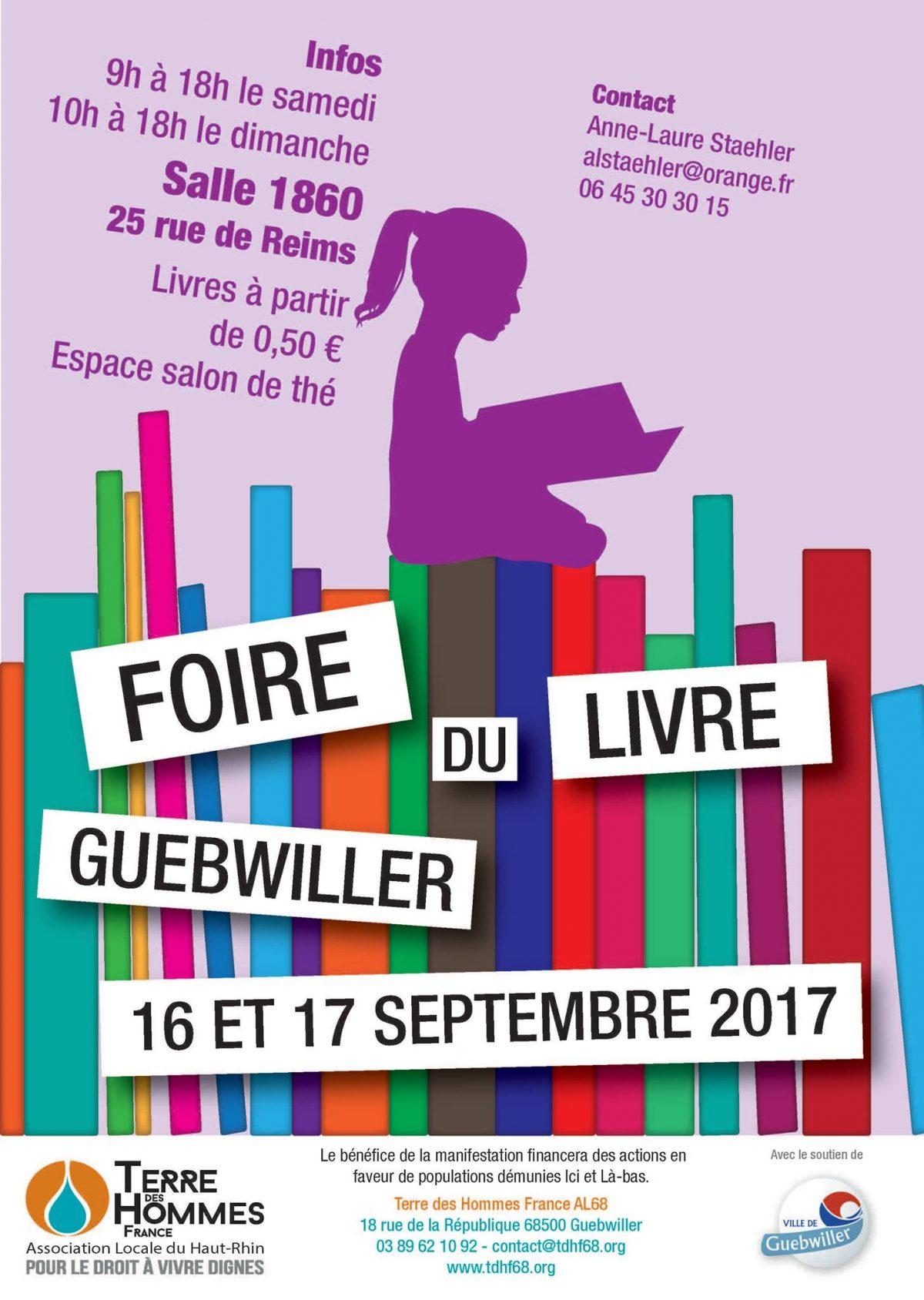 Foire du Live Guebwiller 16 et 17 septembre 2017. Terre des Hommes France. Association Locale du Haut-Rhin pour le droit à vivre dignes.