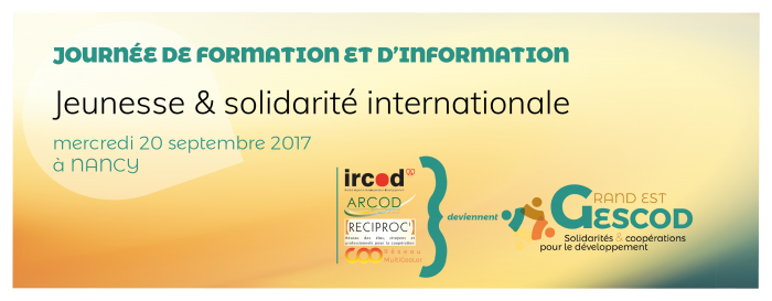 Journée e Formation et d'information, Jeunesse & solidarité internationale