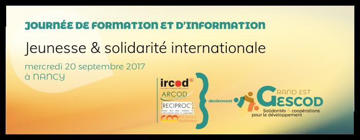 Journée e Formation et d'information, Jeunesse & solidarité internationale