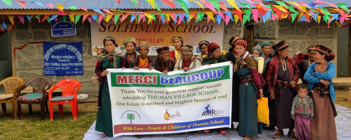 L'école de Thuman au Népal