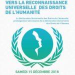 Affiche Vers la reconnaissance universelle des Droits de l'Humanité