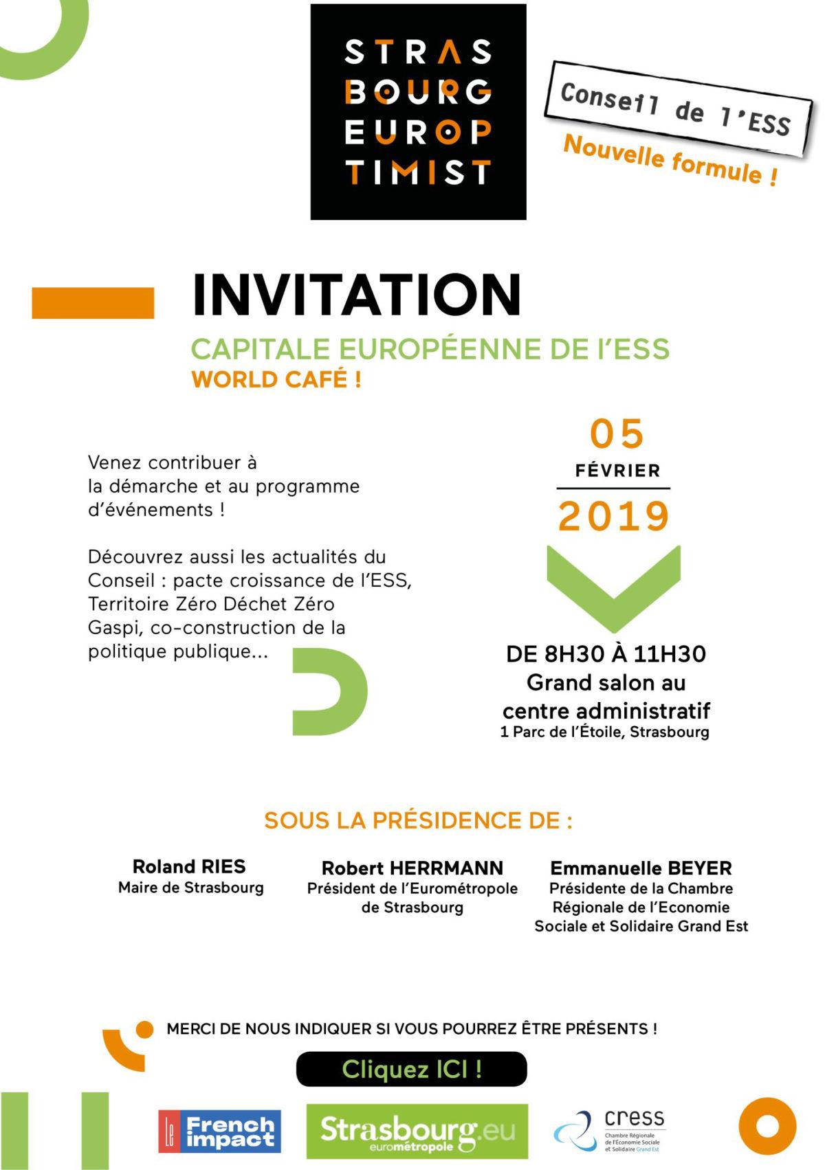 Affiche invitation conseil CRESS