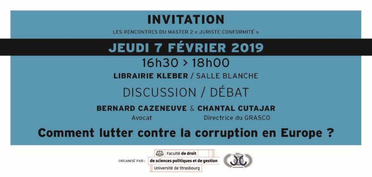 Invitation lutte corruption