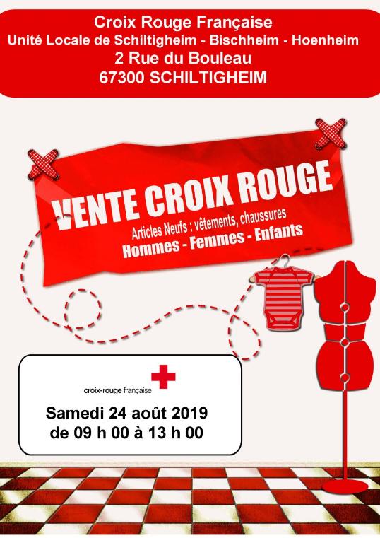 Vente la Croix Rouge