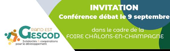 Affiche Conférence-débat développement GESCOD