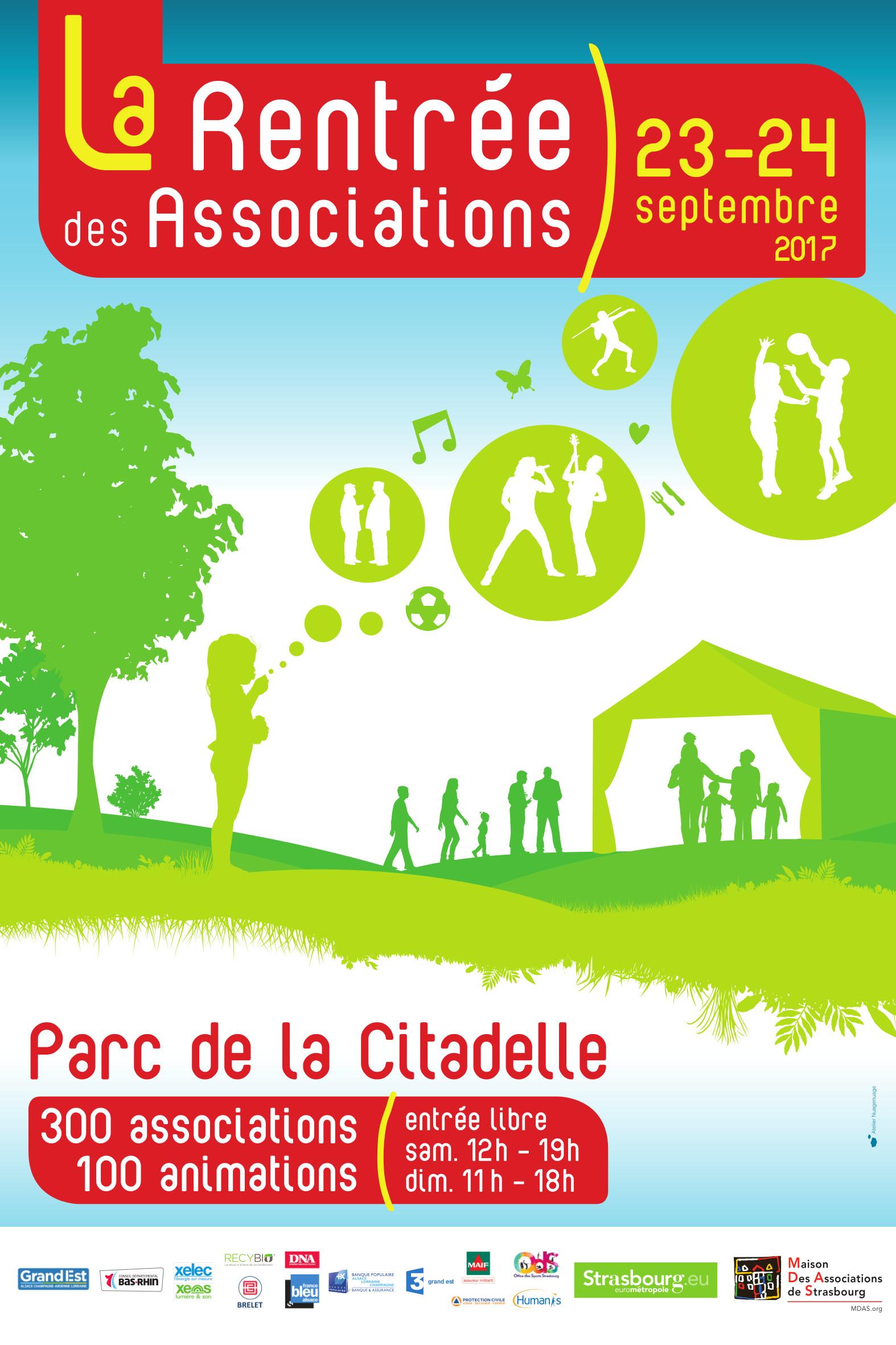 Affiche de la Rentrée des Associations 2017